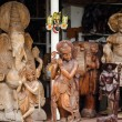 Traditional asian wooden souvenir shop - Stockfoto