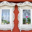 Traditional Russian windows — Stock Photo
