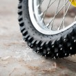 Tyre of motocross bike — Stock Photo #10686761