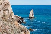 Hermosa roca a orillas del mar negro — Stok fotoğraf