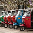 Tuk-tuk is a popular asian transport as a taxi. — Stock Photo