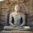 Stock Photo: Buddhstatue in meditation pose