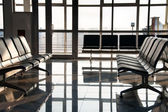 Airport sits and big window — Stock Photo