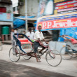 Delhi young rickshaw — Stock Photo