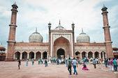 印度最大清真寺贾玛清真寺 — 图库照片