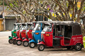 Tuk-tuk is a popular asian transport as taxi. — Stock Photo