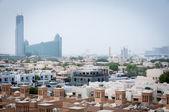 Dubai coberto por areia haze — Fotografia Stock