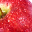 Macro juicy red apple — Stock Photo