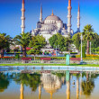 Blue Mosque in Istanbul - Turkey - Stock Photo