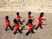Beefeaters in Tower of London — Stock Photo