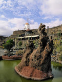 Jardin de Cactus(Cactus Garden), Lanzarote, Canary Islands, Spain — Stock Photo