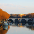 Stock Photo: The River Tiber, Rome, Italy