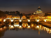 The River Tiber and Vatican, Rome, Italy — Stock Photo