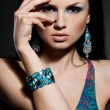 Elegant fashionable woman with jewelry — Стоковое фото