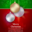 Elegant christmas background with baubles — Stockvectorbeeld