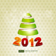 Background with Christmas tree . vector — Imagens vectoriais em stock