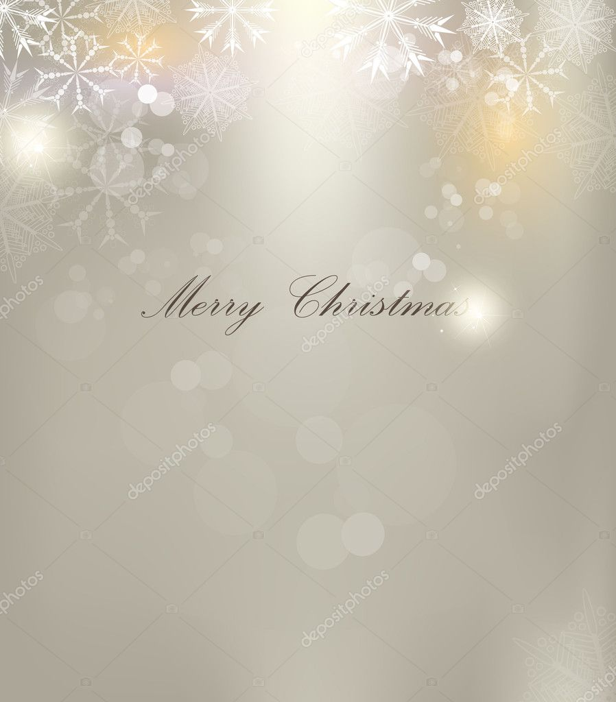 Vector Christmas background with white snowflakes and place for your text — Stock Vector #8287343