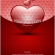 Valentine's day background with hearts for card — Imagen vectorial