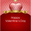 Valentine's day background with hearts for card — Vettoriale Stock