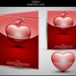 Valentine&#039;s day background with hearts for card - Stock Vector