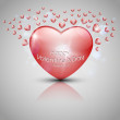 Valentine's day background with hearts — Imagen vectorial