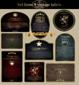 Vintage labels set — Wektor stockowy