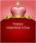 Valentinstag Hintergrund mit Herz für Karte — Stockvektor