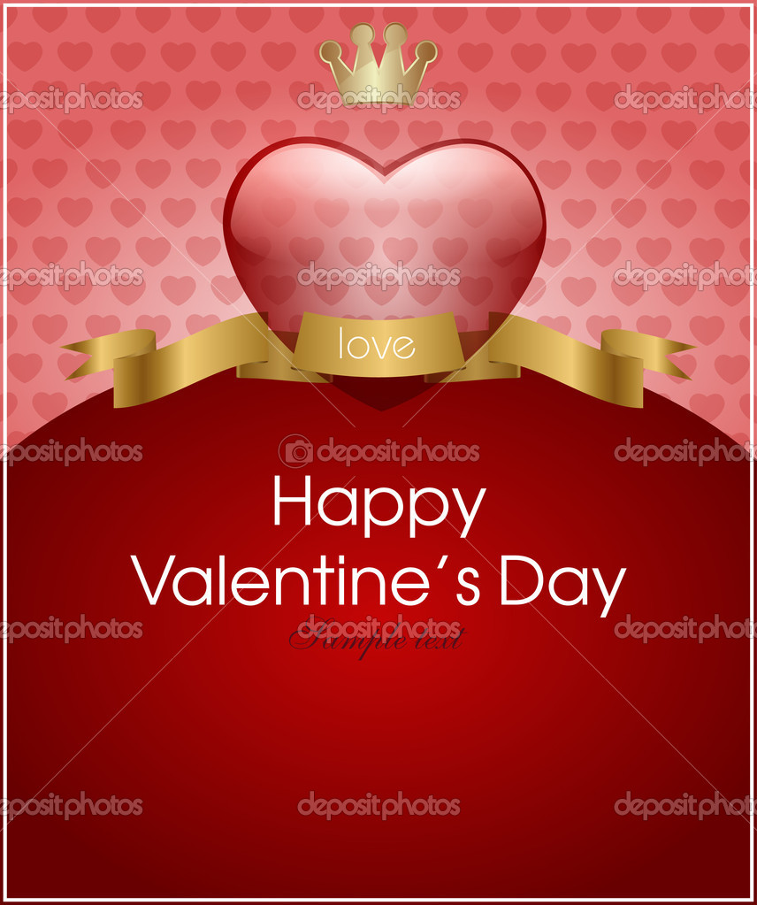 Valentine's day background with hearts for card — Stock Vector #8716014