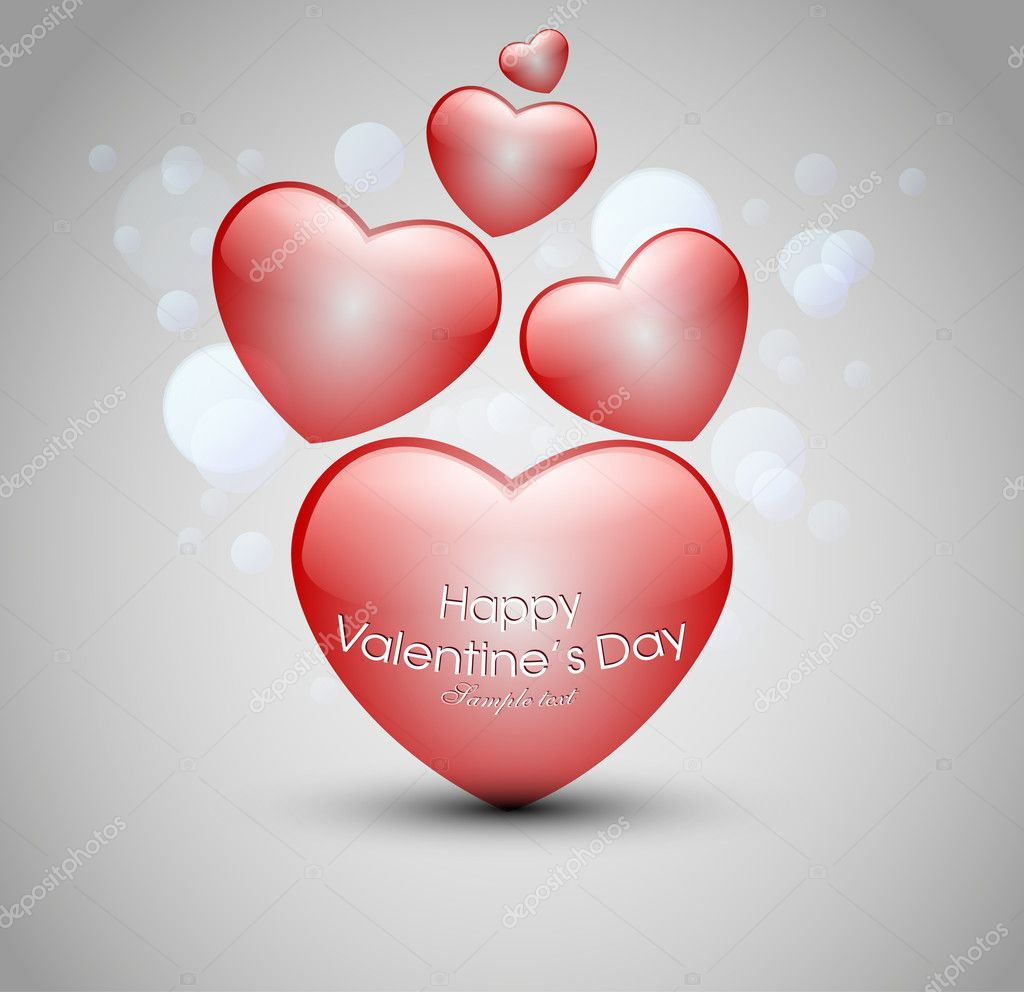 Valentine's day background with hearts — Stock Vector #8716028