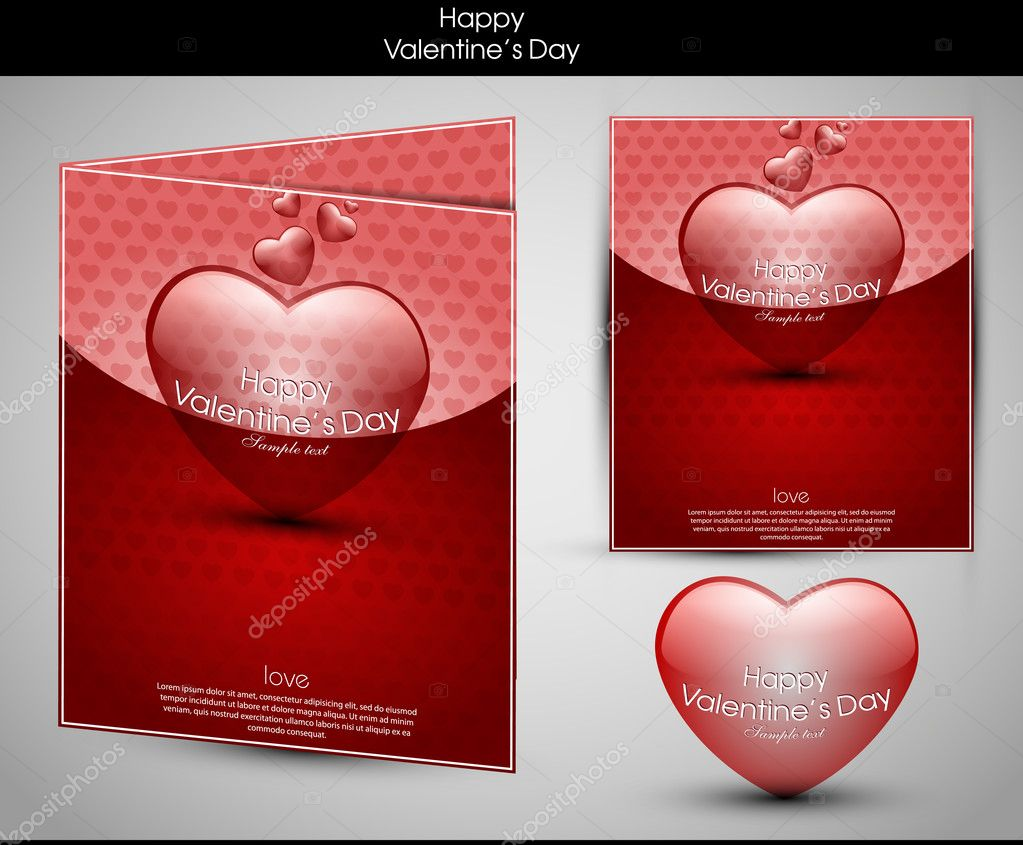 Valentine's day background with hearts for card — Stock vektor #8716040
