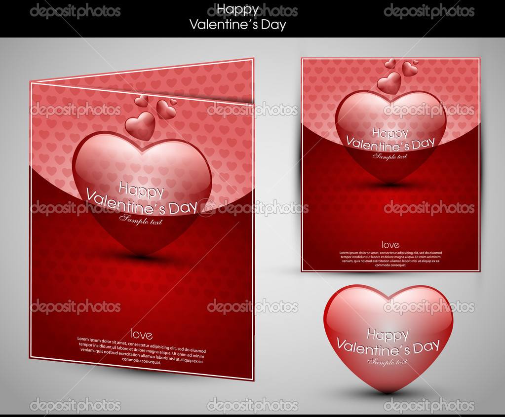 Valentine's day background with hearts for card — 图库矢量图片 #8716040