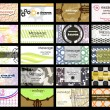 Abstract of 20 orizontal business cards on different topics. vec - ベクター素材ストック