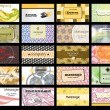 Abstract of 20 orizontal business cards on different topics. vec — Stockvektor #9373080