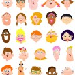 Vector de stock : Faces