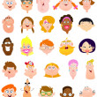 Faces — Stock Vector #10332206