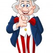 Uncle Sam — Vector de stock #10402821