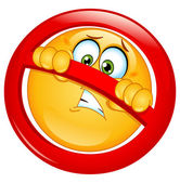 Not allowed emoticon — Stock Vector
