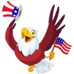 American patriotic eagle — Stock Vector