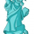 Stock Vector: Statue of liberty
