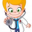 Vector de stock : Kid doctor