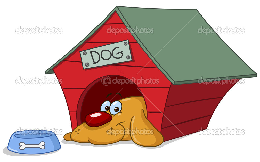 clipart of dog houses - photo #30