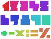 Números cuadrados — Vector de stock