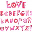 Royalty-Free Stock Vector Image: Love alphabet
