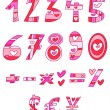 Love numbers — Stock Vector