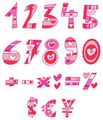 Love numbers — Stock Vector