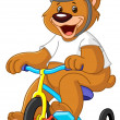 Bear on tricycles — Stock Vector