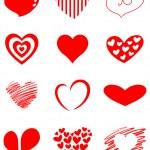 Heart set — Stock Vector #8708653