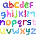 Lower case bubbles alphabet — Stock Vector #8854458