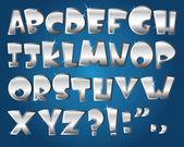 Silver alphabet — Stock Vector