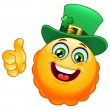 Leprechaun emoticon — Stock Vector